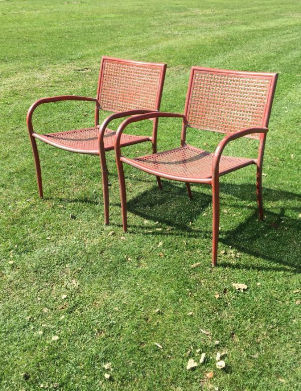 Red Stackable Chairs